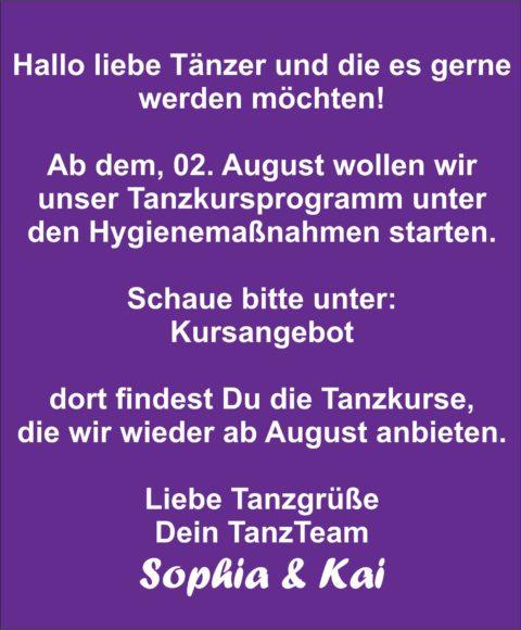 2020-08-01 Tanzen ab August 2020